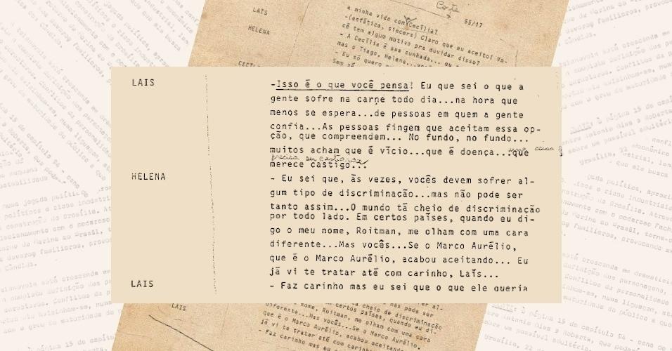 """Censura exige corte de diálogo entre Heleninha (Renata Sorrah), Laís (Cristina Prochaska) e Cecília (Lala Deheinzelin) sobre sua relação amorosa na novela """"Vale Tudo"""""""