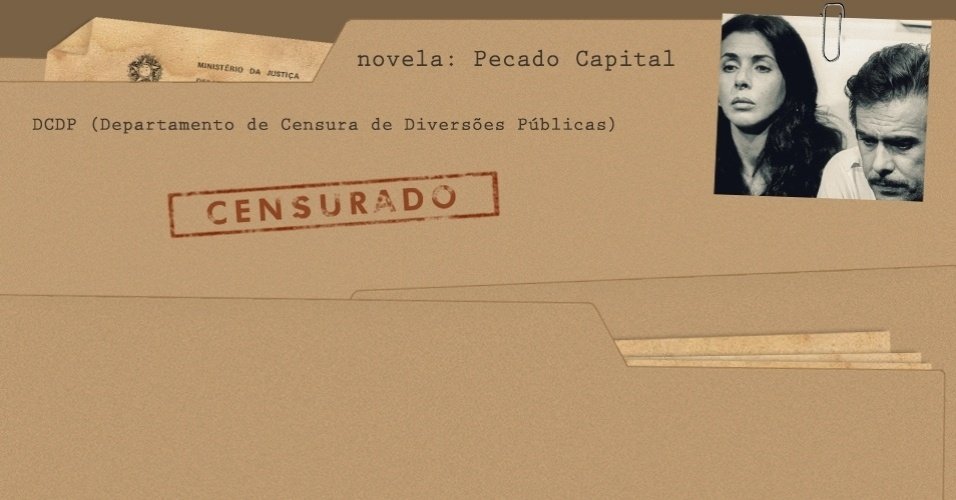 "Arquivo da censura da novela ""Pecado Capital"""