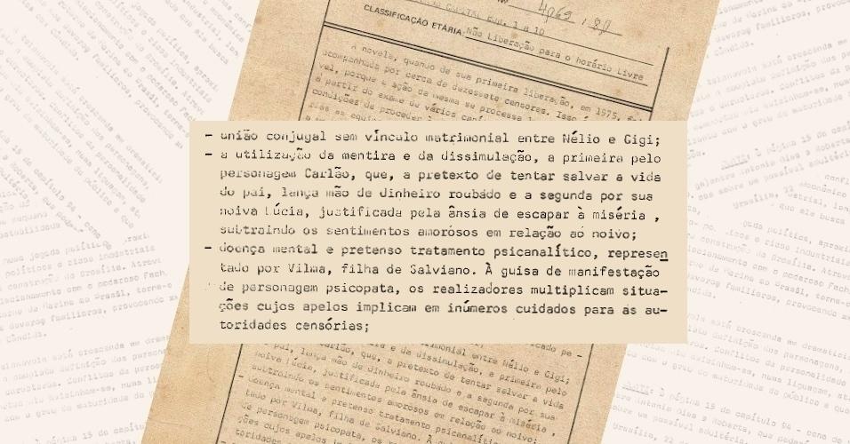 """Censores apontam problemas de ordem moral nos personagens Carlão (Francisco Cuoco) e Vilma (Débora Duarte) de """"Pecado Capital"""" (1975)"""