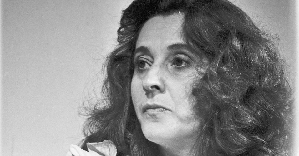 """1981 - A atriz Thelma Reston em cena de """"Brilhante"""""""