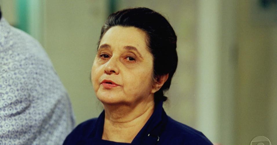 """1997 - A atriz Thelma Reston em cena de """"Anjo Mau"""""""
