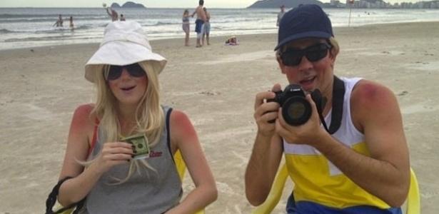 Dani Calabresa e Marcelo Adnet durante as gravações do Verão de Casal da MTV