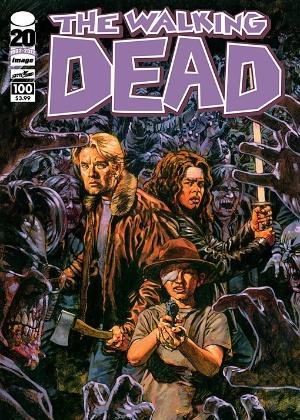 """Capa da 100ª edição de """"The Walking Dead""""  - Divulgação"""