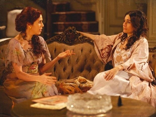 """Em """"Lado a Lado"""", Catarina e Neusinha se unem para acabar com Diva, Isabel e Laura"""