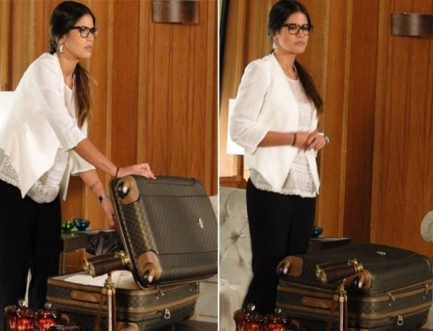 """Em """"Salve Jorge"""", Isadora recebe suas malas de volta e tem atitudes muito suspeitas"""