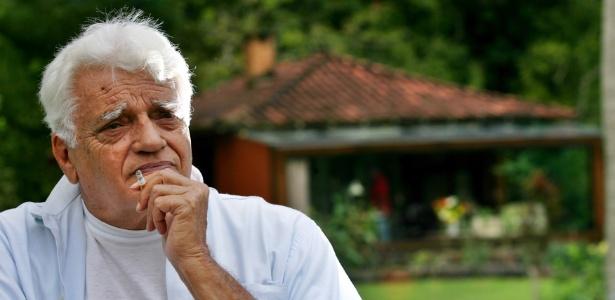 O ator Walmor Chagas na chácara onde morava em Guaratinguetá, local onde foi encontrado morto