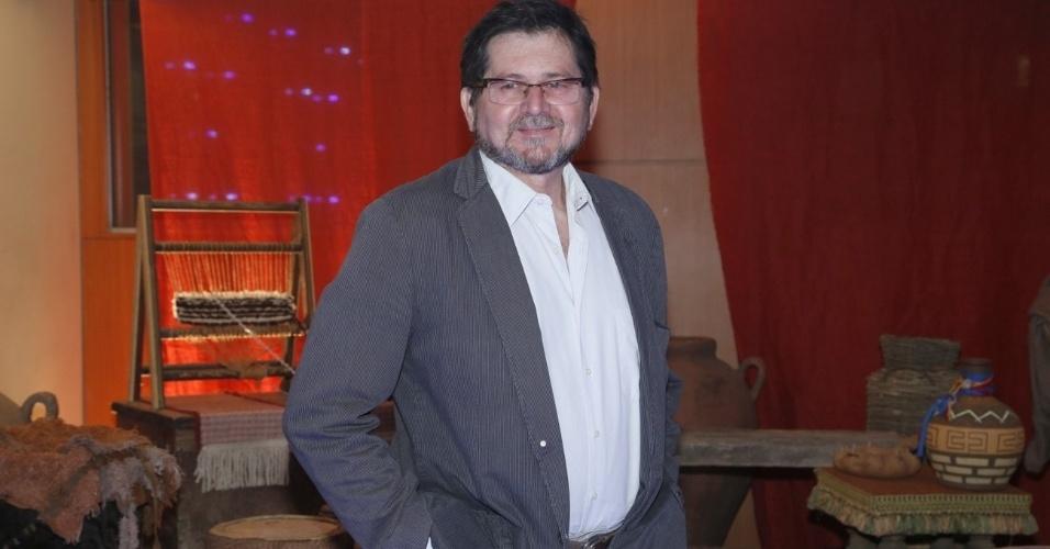 """30.jan.2013 - Celso Frateschi no evento de lançamento e exibição do 1º capítulo da minissérie da TV Record """"José do Egito"""", na Barra da Tijuca, Rio de Janeiro"""