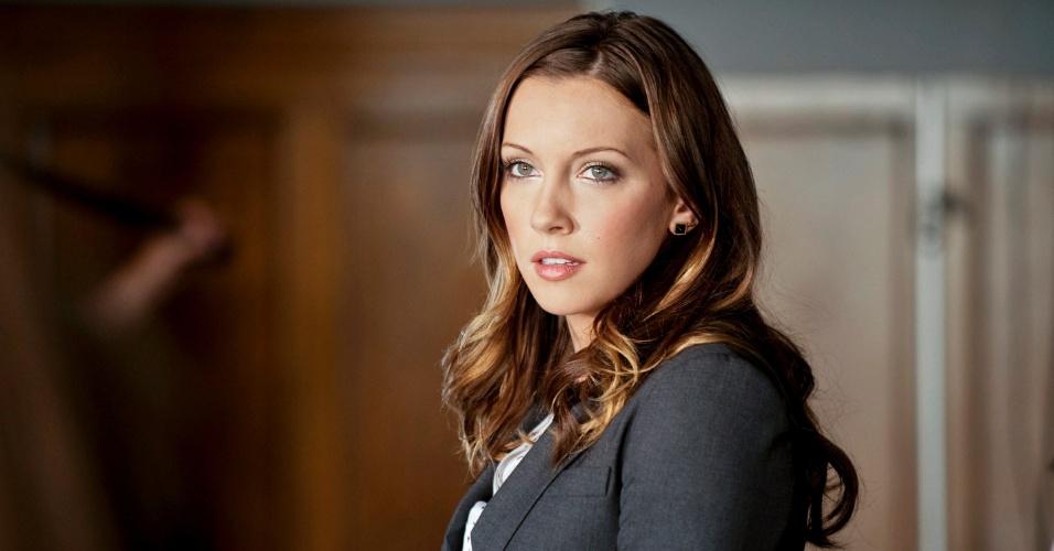 """Katie Cassidy interpreta Laurel Lance na série """"Arrow,"""" inspirada em personagens da DC Comics"""