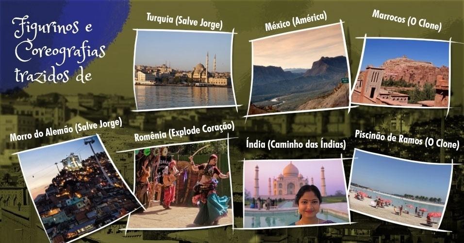 """Glória Perez também ficou conhecida na TV brasileira como a autora dos países exóticos. Em seus folhetins, há muitos elementos """"importados"""" desses lugares, especialmente música, dança e figurinos"""