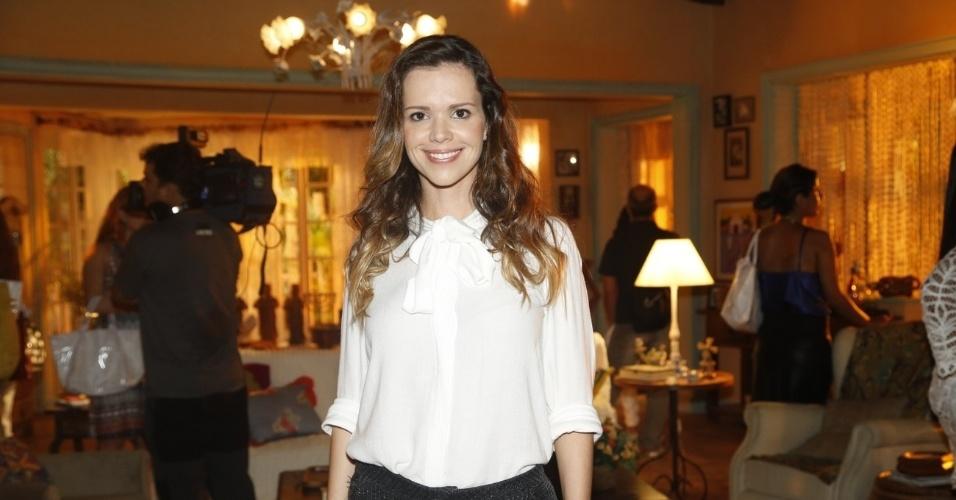 """19.fev.2013 - Viviane Victorette participou da apresentação da novela """"Flor do Caribe"""" no Projac, complexo de estúdios da Globo localizado na zona oeste do Rio"""