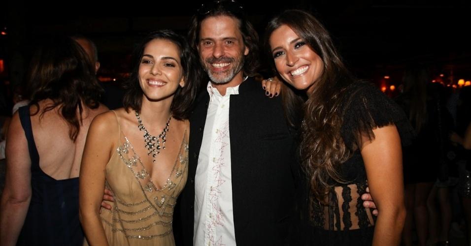 "23.fev.2013 - Tainá Müller, Marcos Winter e Maria Joana na festa de ""Flor do Caribe"""