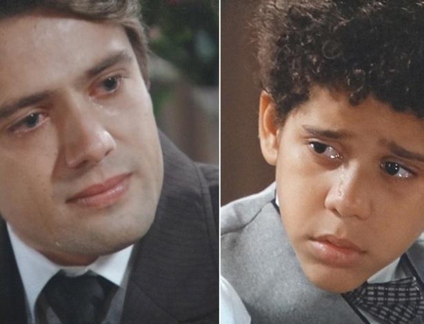 """Em """"Lado a Lado"""", Albertinho chora depois de levar bronca de Elias"""