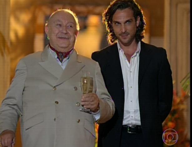 11.mar.2013 Dionísio anuncia que Alberto assumirá os negócios da família