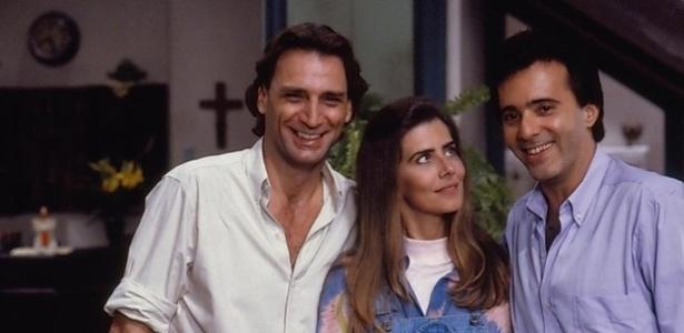 13.mar.2013 - Herson Capri, Maitê Proença e Tony Ramos em cena de