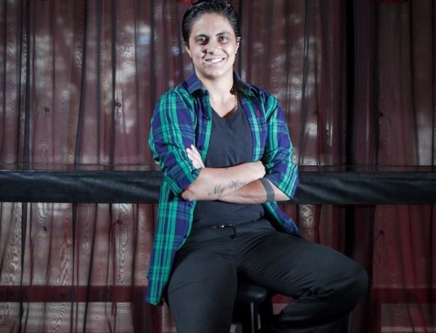 "13.mar.2013 - Thammy Miranda, a Jô de ""Salve Jorge"", posa para foto na casa noturna Royal Club, em São Paulo"