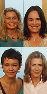 13.mar.2013 - Vera Fischer, Regina Duarte, Julia Lemmertz e Maitê Proença como as Helenas de Manoel Carlos