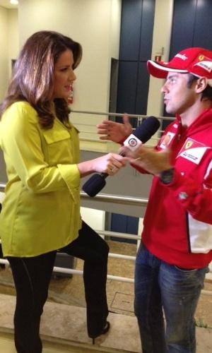 Mar.2013 - Christiane Pelajo entrevista Felipe Massa para o