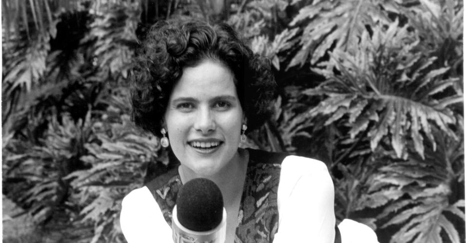 """Renata Ceribelli em gravação do """"Vídeo Show"""""""