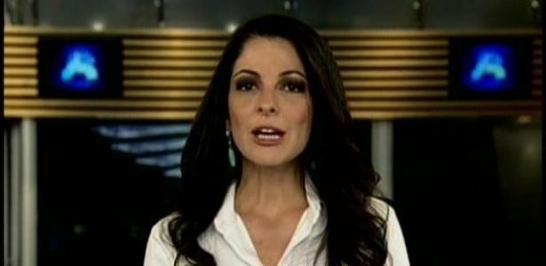 """Ana Paula Padrão, que se despediu do """"Jornal da Record"""" em março de 2013"""