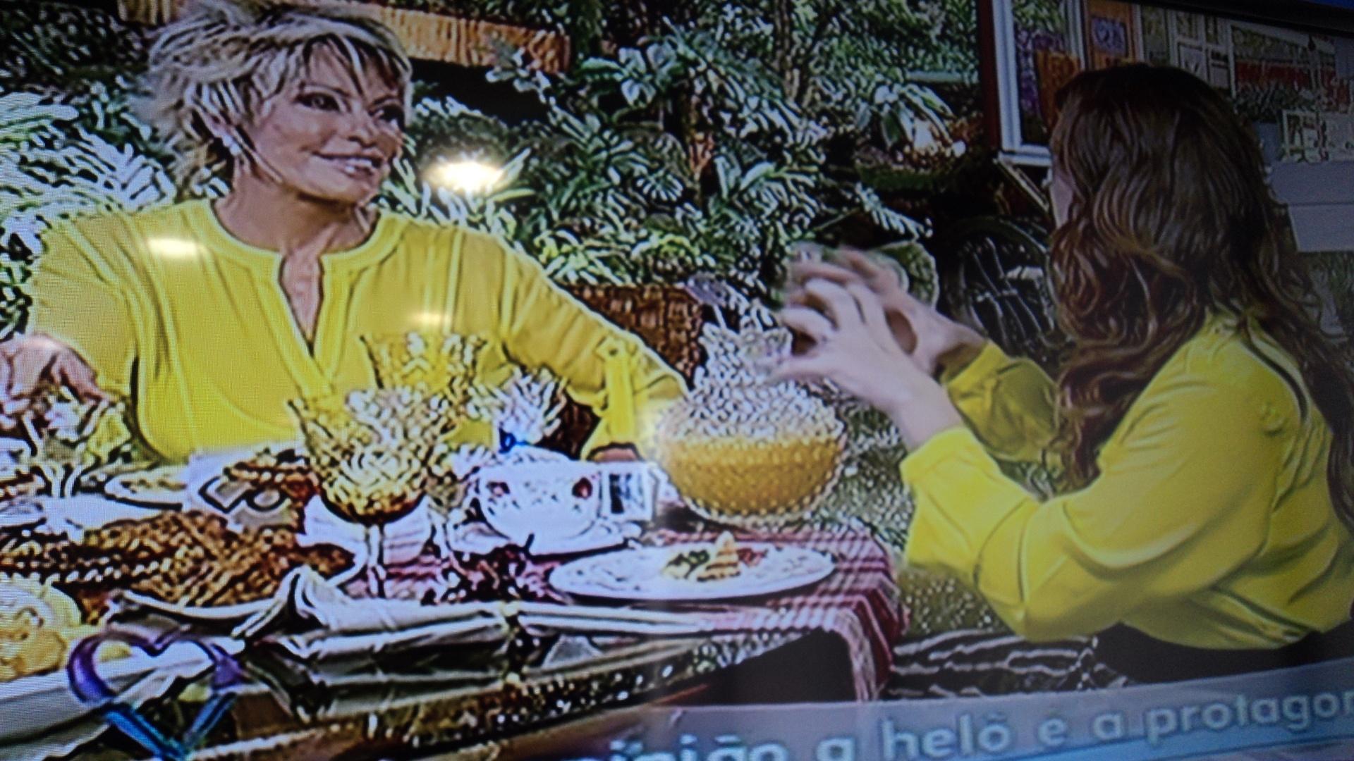 Giovanna Antonelli usa amarelo e Ana Maria Braga também, no 'Mais Você'