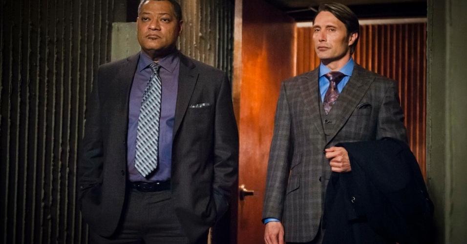 """A série policial """"Hannibal"""", nova adaptação às telas para a história do psiquiatra canibal Hannibal Lector, chega à televisão brasileira pelo canal de TV a cabo AXN a partir de 16 de abril de 2013, às 22h"""