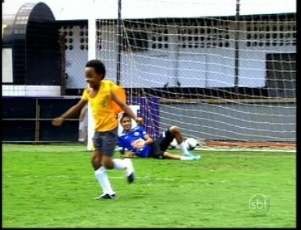 """Neymar leva gol de Cirilo em sua participação em """"Carrossel"""""""