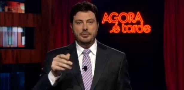 """O apresentador Danilo Gentili no """"Agora É Tarde"""""""