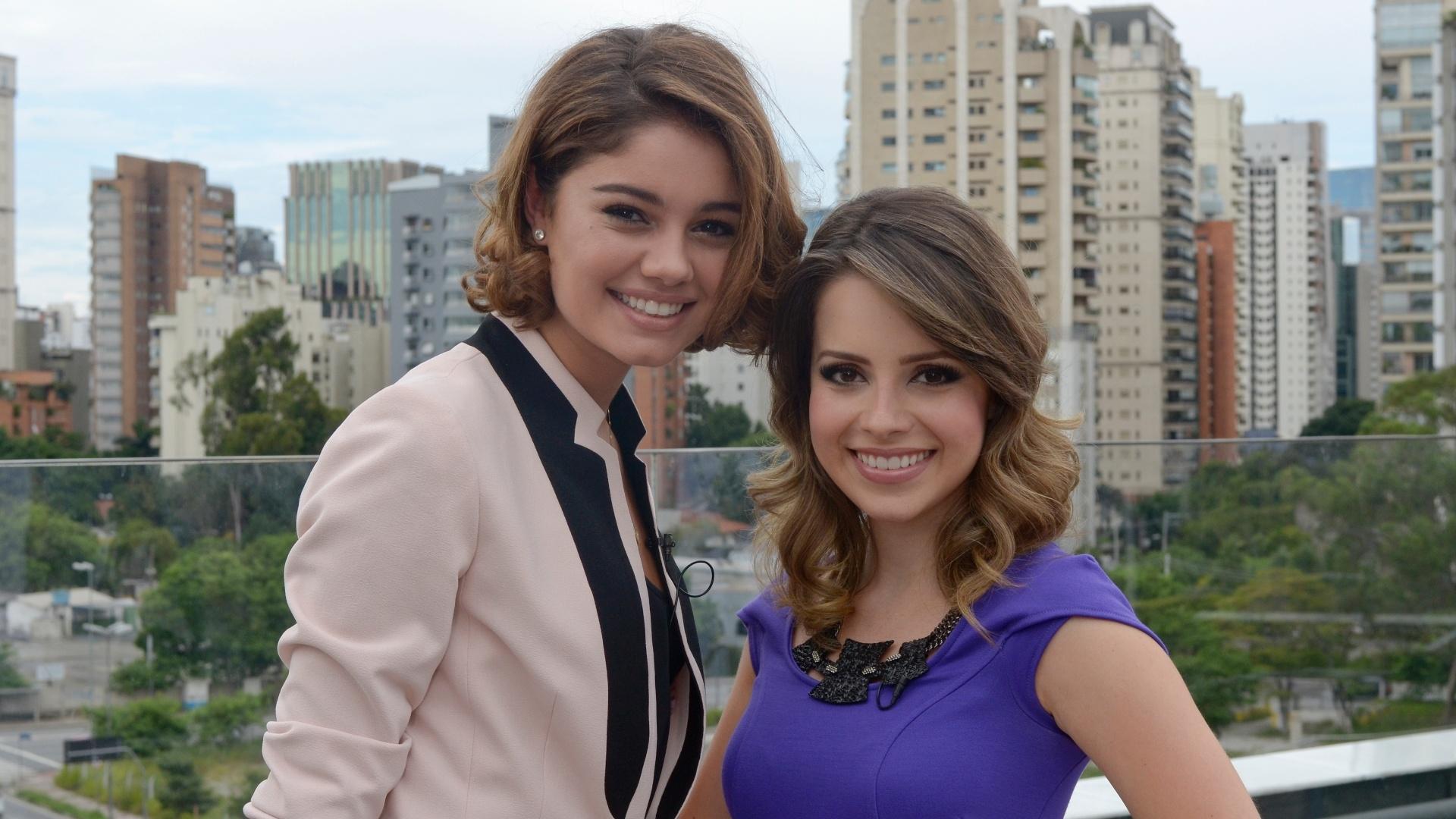 A cantora Sandy gravou com a atriz Sophie Charlotte uma participação especial da novela