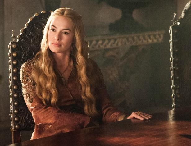 """Cersei Lannister (Lena Headey), a mente por trás do rei Joffrey, em cena da terceira temporada de """"Game of Thrones"""""""