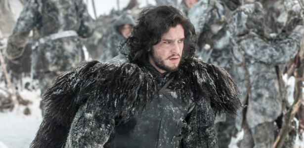 "Kit Harington como Jon Snow em cena da terceira tempora da ""Game of Thrones"""