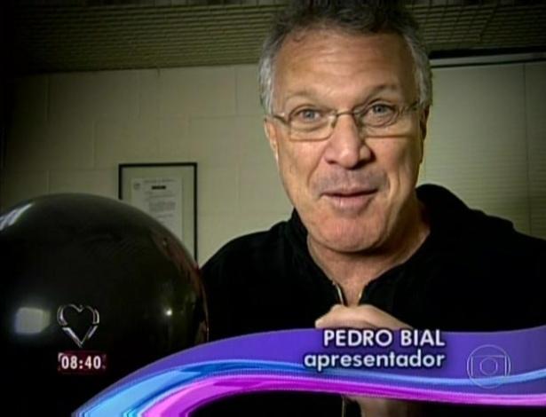 1.abr.2013 - O apresentador Pedro Bial mandou mensagem de parabéns para Ana Maria Braga