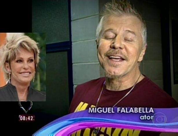 1.abr.2013 - O diretor, autor e ator Miguel Falabella mandou recado de parabéns para Ana Maria Braga