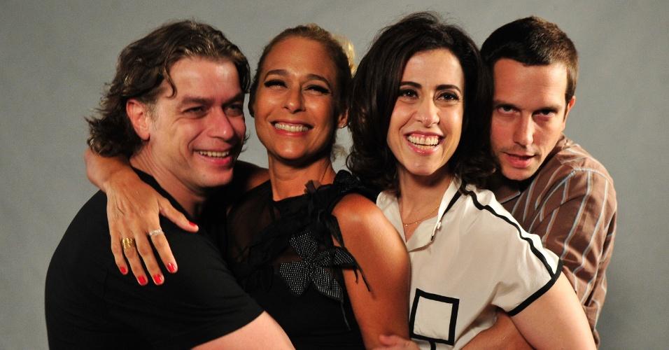 2.abr.2013 - Fabio Assunção, Andréa Beltrão, Fernanda Torres e Vladimir Brichta
