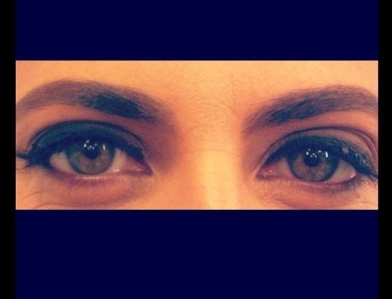 4.abr.2013 - Foto dos olhos de Thammy Miranda postada por Giovanna Antonelli no Twitter