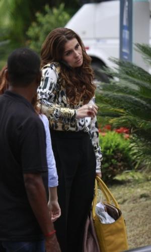 """Atriz Giovanna Antonelli grava cenas da novela """"Salve Jorge"""" no Rio de Janeiro"""