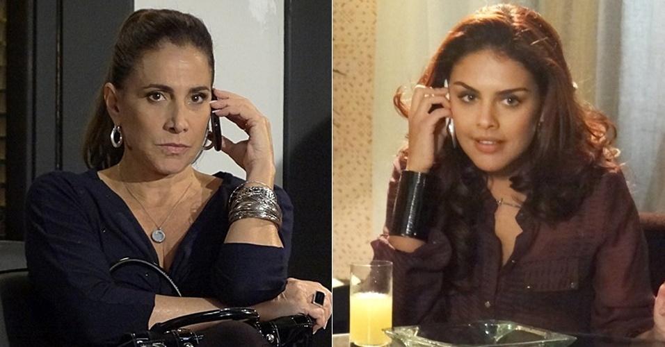 """17.abr.2013 - Em """"Salve Jorge"""", Wanda pede ajuda a Rosângela para sair da prisão, mas traficada nega"""