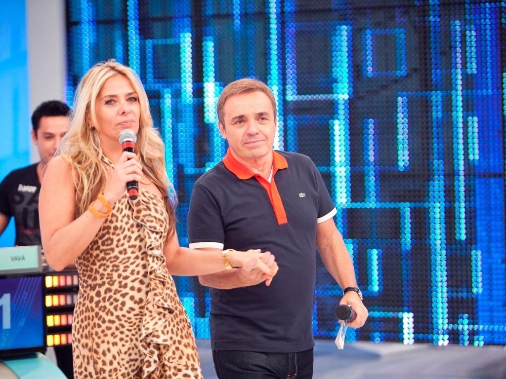 19.abr.2013 - A apresentadora Adriane Galisteu participou da gravação do quadro