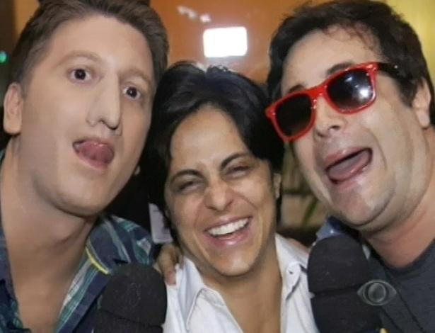 21.abr.2013 - Daniel Zuckerman e Rodrigo Scarpa entrevistam Thammy Miranda para o