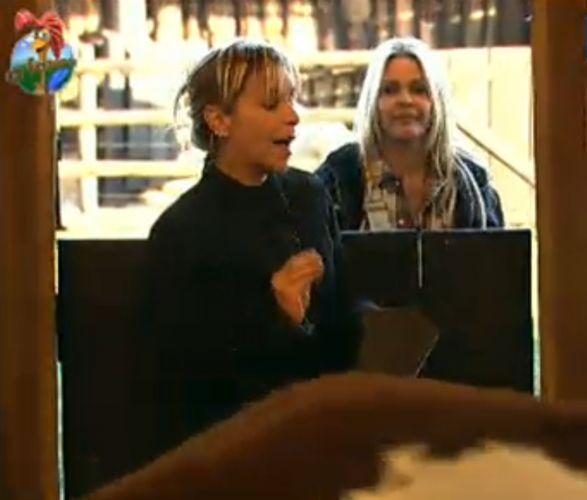 Em compensação a égua Funny preocupou a atriz (27/7/11)
