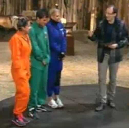 Dani Bolina, Thiago Gagliasso e Monique Evans recebem orientações de Britto Jr. (21/8/11)