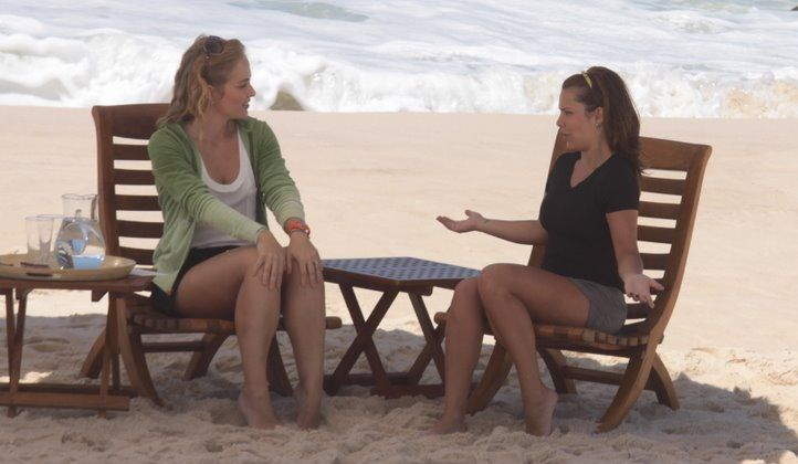 Fernanda Souza é entrevistada por Angélica para o programa