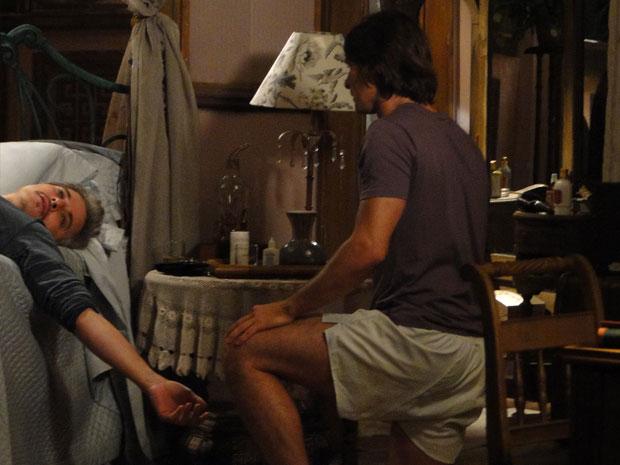 Fernando (Edson Celulari) decide deixar o Araguaia depois de receber de volta o dinheiro da venda do cavalo de Solano (Murilo Rosa). Estela (Cleo Pires) e Fernando vão dormir e Solano acorda no meio da noite com um grito da madrasta. Ao entrar no quarto, Solano encontra Estela aos prantos e Fernando, morto. Solano se choca ao ver o pai na mesma posição da visão de Terê Tenório (Thaís Garayp). A cena vai ao ar na próxima segunda-feira (4/10)
