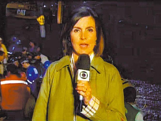 A apresentadora Fátima Bernardes transmite em 8 de abril de 2010 o