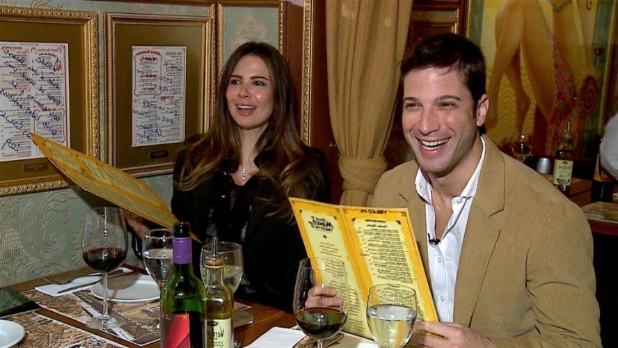 Luciana almoça com o irmão Marco Antônio Gimenez. A cena será exibida em