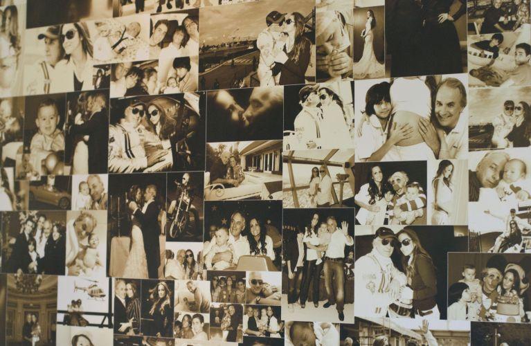 Detalhe do mural de fotos no escritório de Otávio Mesquita em um condomínio empresarial, no Morumbi, zona sul de São Paulo (12/5/2011)