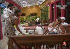 Lia discute com Fernanda e Dicesar após formação de paredão