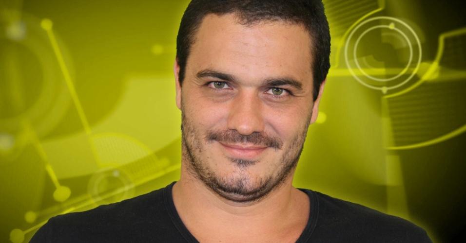 Rafa, 35 anos, projetista de iluminação, do Rio de Janeiro, participante do BBB 12 (jan/2012)