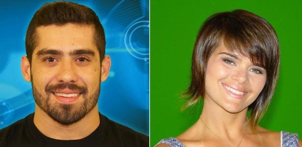 """O """"BBB"""" Yuri Fernandes e sua ex-namorada, a bailarina Gabriela Marquez"""