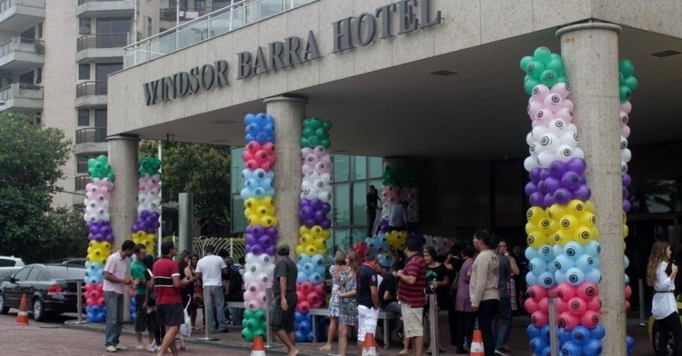"""Decoração do hotel para saída dos participantes do """"BBB12"""" (10/1/2012)"""