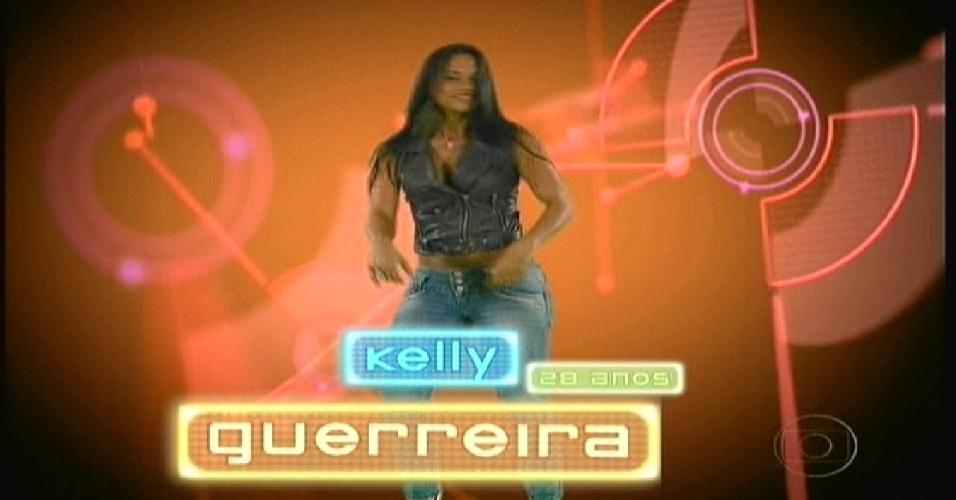 """Kelly apareceu como """"Guerreira"""" na animação feita na estreia do """"BBB12"""" (10/1/2012)"""
